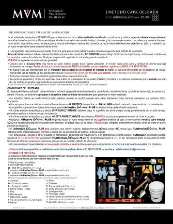 Descargar Manual - MVM - Mosaicos Venecianos de México