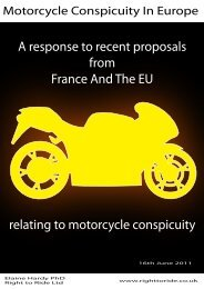 Motorcycle Conspicuity In Europe - Right To Ride EU
