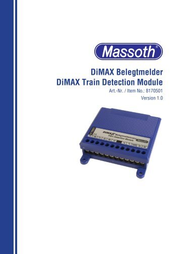 DiMAX Belegtmelder DiMAX Train Detection Module - AllAboutLGB