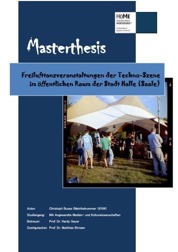 Freilufttanzveranstaltungen der Techno_Szene im öffentlichen Raum der Stadt Halle_Saale