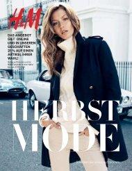 H&M Katalog Herbst MOde