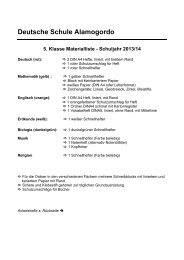 Klasse 5 - Deutsche Schule Alamogordo