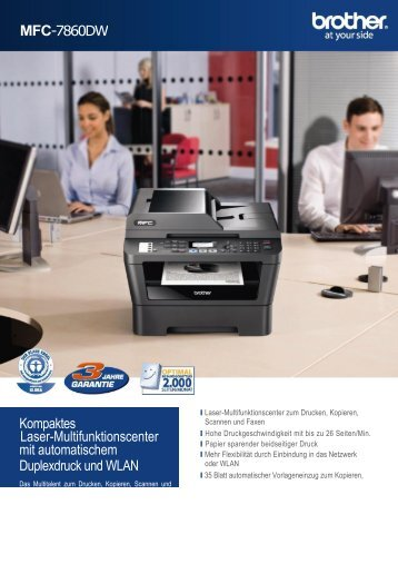 MFC-7860N Multifunktionsdrucker von Brother
