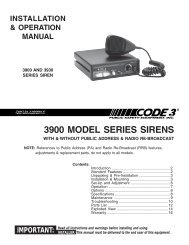 sirens and controls - code 3 public safety equipment  yumpu