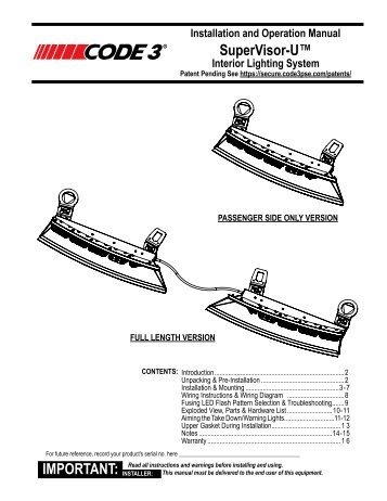 Arch Beacon Installation Guide - Code 3 Public Safety Equipment on