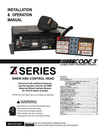 z3 siren installation operation manual code 3 public safety ?quality=85 sirens and controls code 3 public safety equipment code 3 siren wiring diagram at n-0.co
