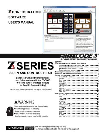 code 3 siren vcon model no 3672l4 control panel shows manual  h2covert  brand now placed twitpic an archived state  panel-based trip cycle