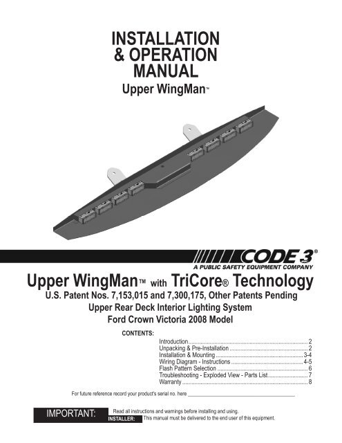 wingman with tricore installation guide for 2008 chevy impalaCode 3 Wingman Wiring Diagram #20