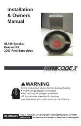 Slim Line Speaker 2007 Ford Expedition Installation Guide