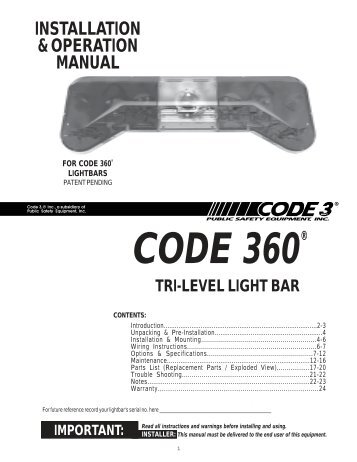 code 360 installation guide code 3 public safety equipment?quality=85 install manual for the rmx lightbar conversion kit code 3 public