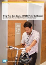 (BYOD) Policy Guidebook - eMedia Law Insider