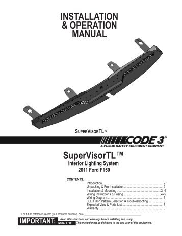 installation operation manual code 3 public safety equipment?quality\=85 code 3 21tr light bar wiring diagram wiring diagrams code 3 pse excalibur lightbar wiring diagram at nearapp.co