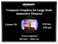 Computer Graphics for Large-Scale Immersive Theaters Computer ...