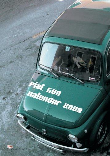 Fiat 500 Kalender 2009 - 500er-Fiat.de