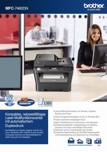 MFC-7460N Multifunktionsdrucker von Brother
