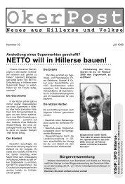 Juli 1999 - SPD-Ortsverein Hillerse