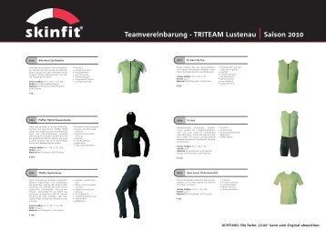 Teamvereinbarung - TRITEAM Lustenau | Saison 2010
