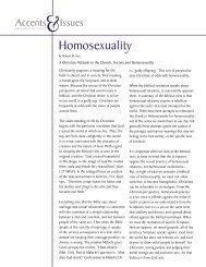 Homosexuality - Brethren in Christ Church