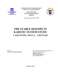 the stable isotope in karstic system study - Physical Land Resources