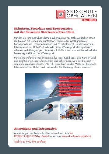 Skischule Obertauern Frau Holle Angebot 2012-13 ... - Freudenhaus