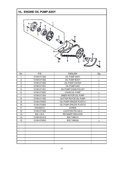 16、ENGINE OIL PUMP ASSY