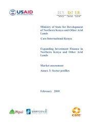 Market Assessment Annex 3: sector profiles - Disaster risk reduction