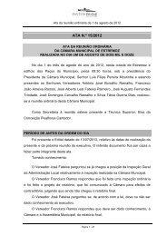 ATA N.º 15/2012 - Câmara Municipal de Estremoz