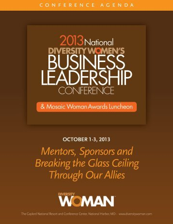 Mentors, Sponsors and Breaking the Glass ... - Diversity Woman