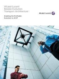 Alcatel-Lucent Mobile Evolution Transport Architecture - Pexx, Inc.
