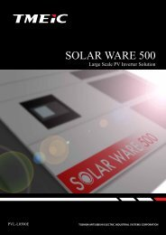 SOLAR WARE 500(for Europe)[PDF/1.6MB] - Tmeic.com