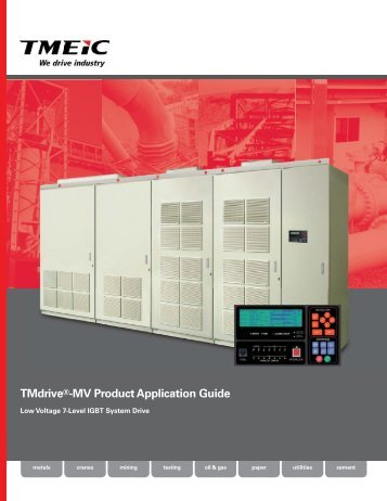 TMdrive®-MV Product Application Guide - Tmeic.com