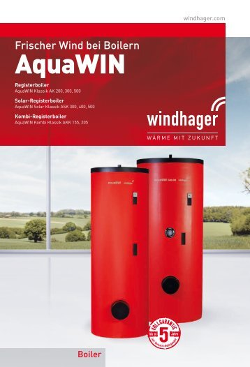 AquaWIN Kombinations-Registerboiler - Windhager
