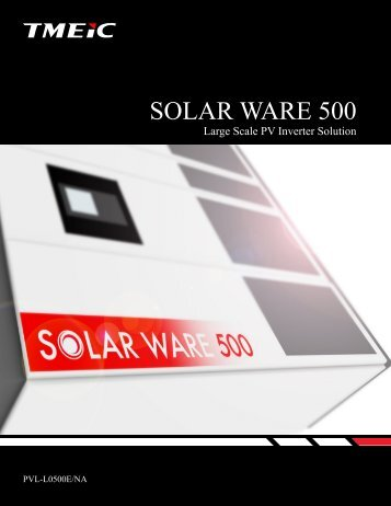 Solar Ware 500 (Europe) - Tmeic.com