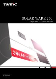 SOLAR WARE 250(for Europe)[PDF/525KB] - Tmeic.com