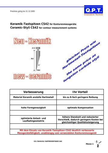 Keramik-Tastspitzen CS42 für Konturenmessgeräte Verbesserung ...