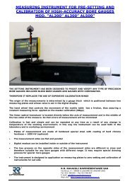 measuring instrument for pre-setting and calibration of high ...