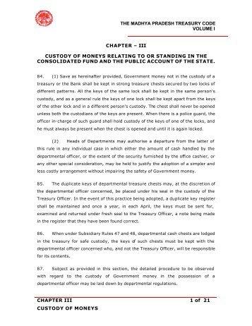 THE MADHYA PRADESH TREASURY CODE ... - Mptreasury.org