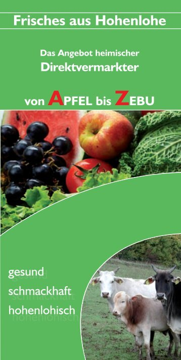 Frisches aus Hohenlohe - WIH-Wirtschaftsinitiative Hohenlohe