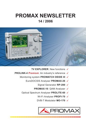 promax newsletter 14 / 2006 tv explorer