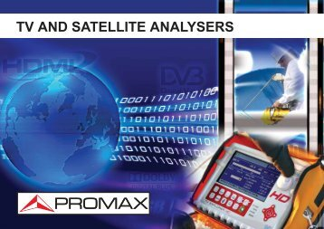 TV and Satellite analysers - Promax