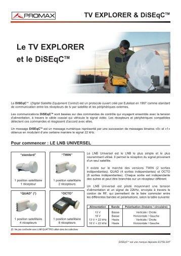 Le TV Explorer et le DiSEqC(TM) - Promax