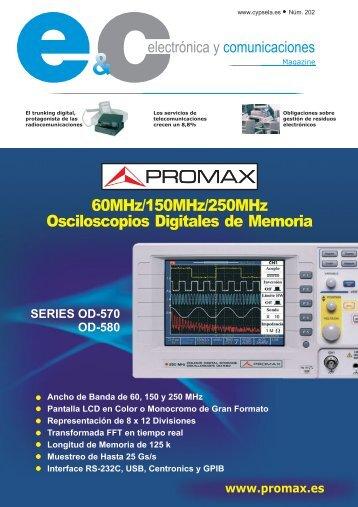 Electronica y Comunicaciones Magazine 202 - Promax