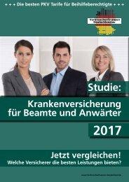 VFD-Studie: Krankenversicherung für Beamte und Anwärter 2017