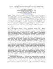 CBERS – Satélite Sino-Brasileiro de Recursos Terrestres - OBT - Inpe