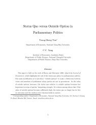 Status Quo versus Outside Option in Parliamentary Politics - SAET