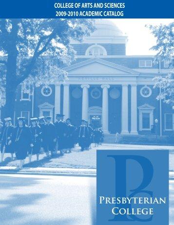 2009-2010 Catalog - Presbyterian College