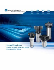 T-style Liquid Strainers - Spraying Systems Co.