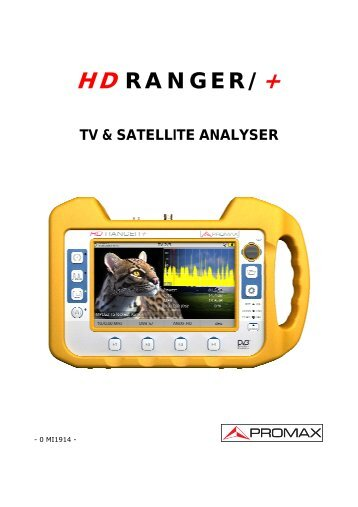 HD RANGER / HD RANGER+ user manual - Promax