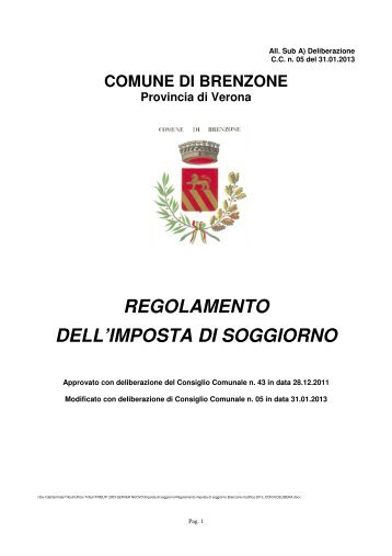 1 IMPOSTA DI SOGGIORNO – DICHIARAZIONE MENSILE (per ...