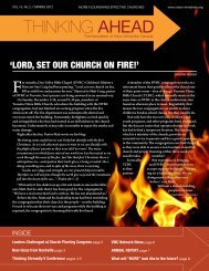 View PDF of this newsletter - Vision Ministries Canada